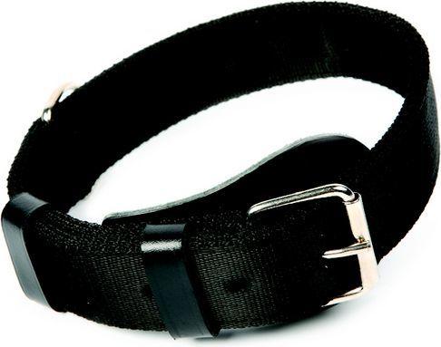 Dingo obroża specjalna z taśmy 4 cm x 70 cm (55-65 cm) czarna 1