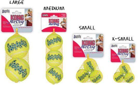 KONG AirDog piłki tenisowe X-Small 3szt. 4 CM 1