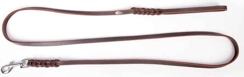 Dingo Skórzana z chromowanymi okuciami 1.5/180cm Brązowa (11210) 1