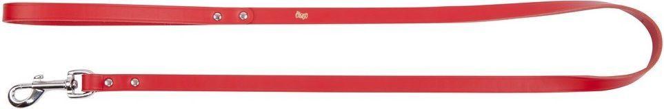 Dingo Skórzana nitowana 1.5/120cm Czerwona (10029) 1