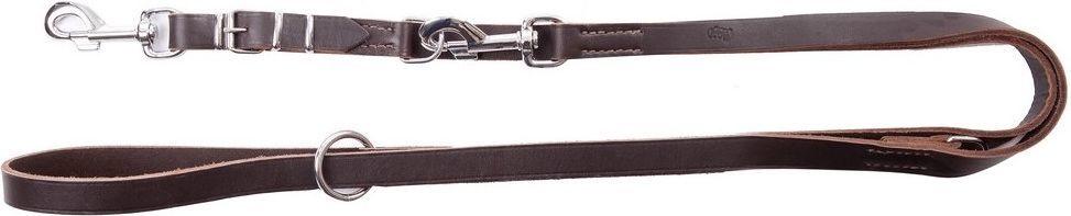 Dingo Soft przedłużana ze skóry szyta 2.5/120-220cm Brązowa (11223) 1