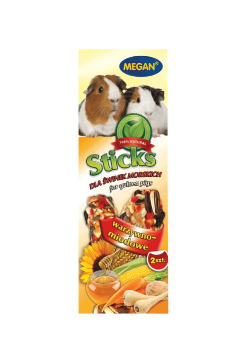 Megan Sticks dla świnki morskiej warzywno-miodowe 2 szt. 90g - ME114 1