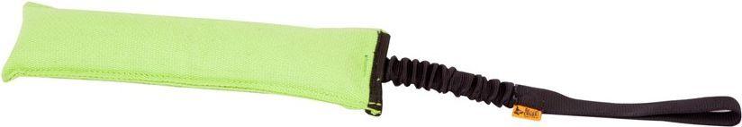 Dingo gryzak agility 8 x 15 cm czarny, rączka bungee - zielona - 15590 1