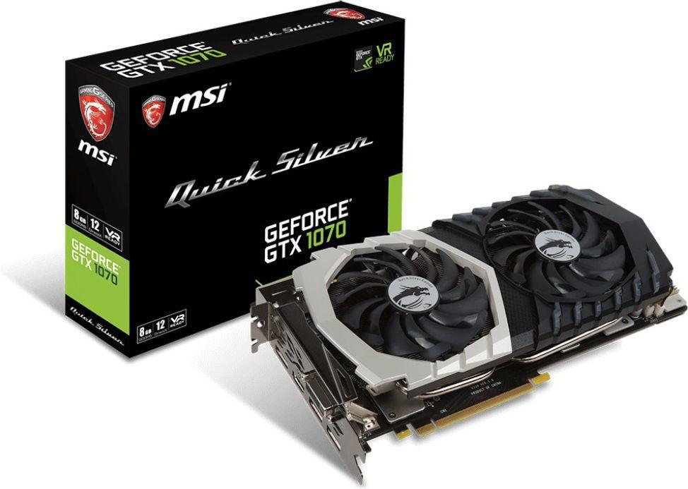 Karta graficzna MSI GeForce GTX 1070 Quick Silver OC 8GB GDDR5 (256 Bit) DVI-D, HDMI, 3xDP, BOX 1