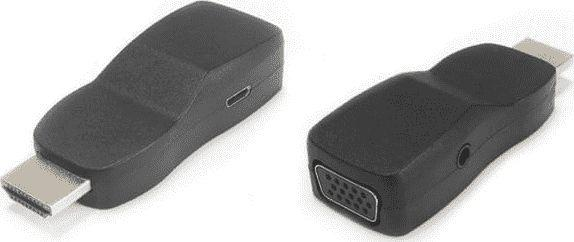 Adapter AV PremiumCord PremiumCord prevodnik HDMI na VGA miniaturni provedeni se zvukem a napajecim konektorem - 29601032096084 1
