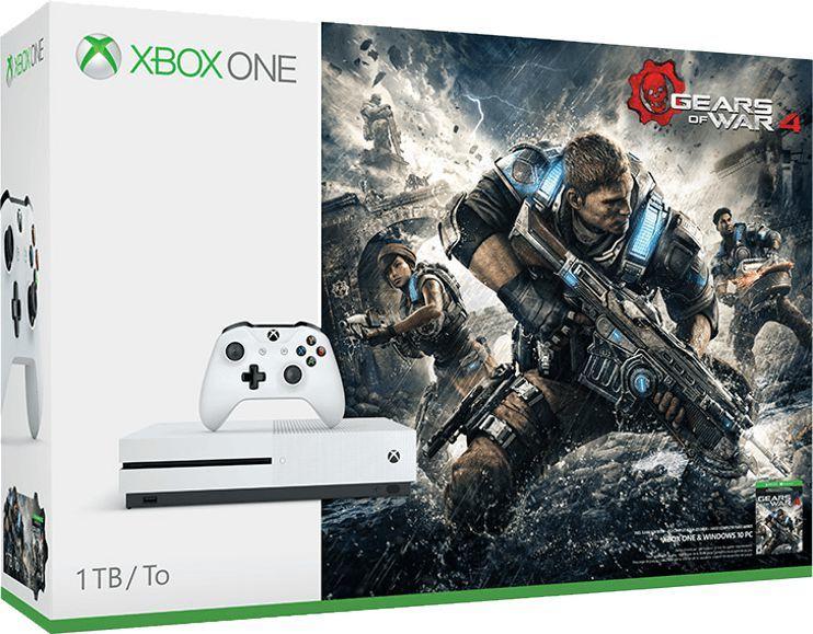 Microsoft XBOX ONE S 1TB + Gears of War 4 (234-00038) 1