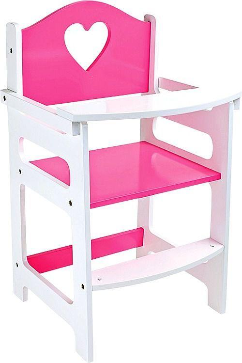 Krzesełko dla lalek do karmienia, Serce, small foot