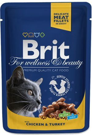 Brit Premium Cat Pouches with Chicken & Turkey 100g 1