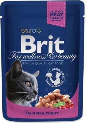 Brit Premium Cat Pouches with Salmon & Trout 100g 1