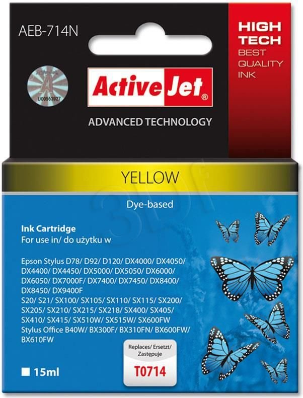 Activejet tusz AEB-714N / T071440 (yellow) 1