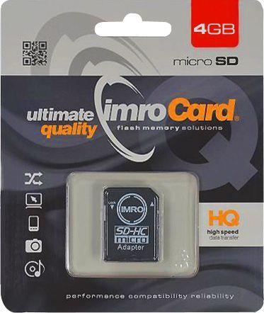 Karta Imro MicroSDHC 4 GB Class 4  (KOM000463) 1