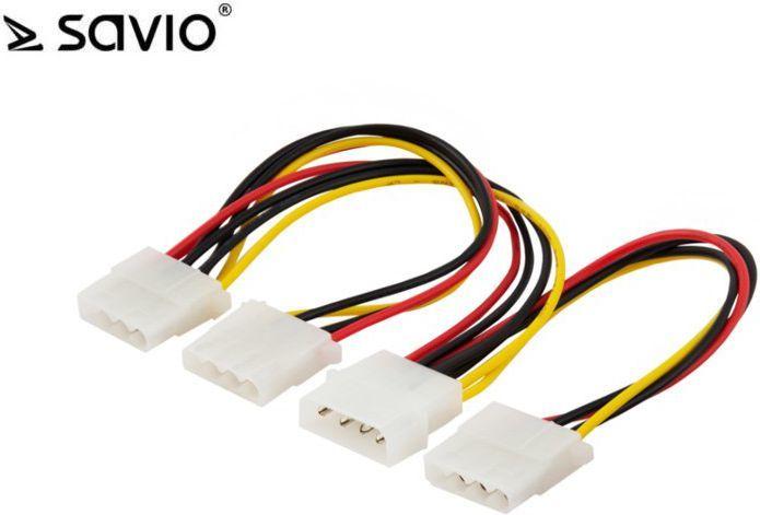 Elmak Kabel zasilający / adapter Molex 4pin (SAVIO AK-16) 1