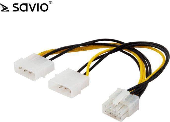 Elmak Kabel zasilający / adapter Molex 4pin - EPS 8pin (SAVIO AK-18) 1