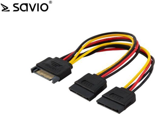 Elmak Kabel zasilający / adapter SATA - 2x SATA (AK-17) 1