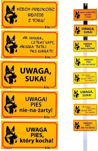"""Dingo Tabliczka ostrzegawcza PCV - """"Uwaga! Pies nienażarty!"""" 1"""