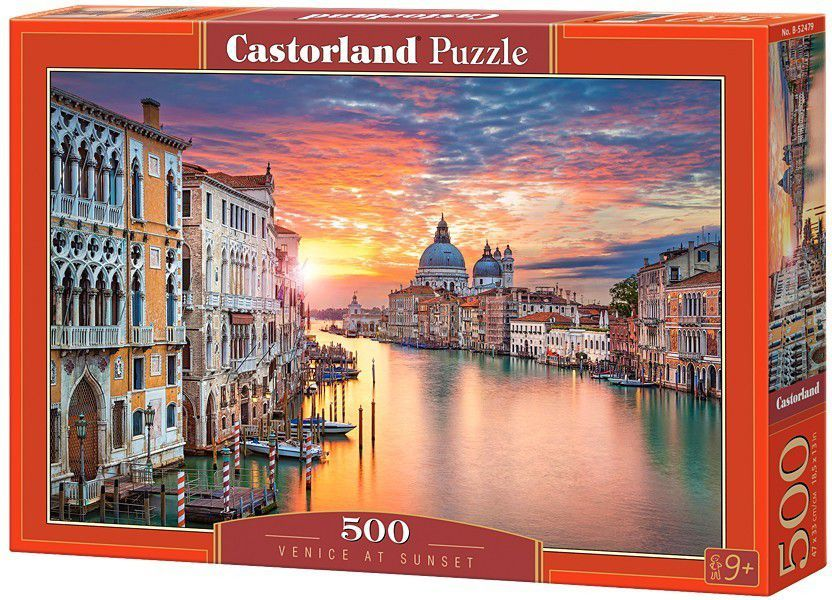 84a599d8 Castorland 500 Elementów, Zachód słońca w Wenecji (52479) w Hulahop.pl