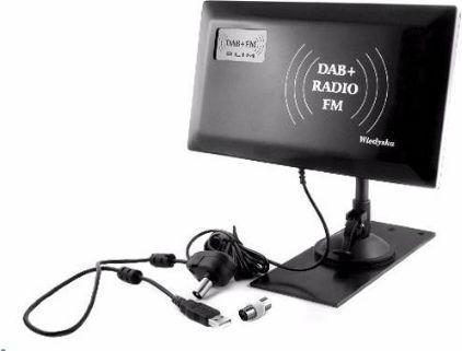 Antena RTV Radiowa DAB + FM Slim 1