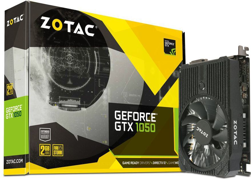 Karta graficzna Zotac GeForce GTX 1050 Mini 2GB GDDR5 (128 Bit) DVI-D, HDMI, DP, BOX (ZT-P10500A-10L) 1