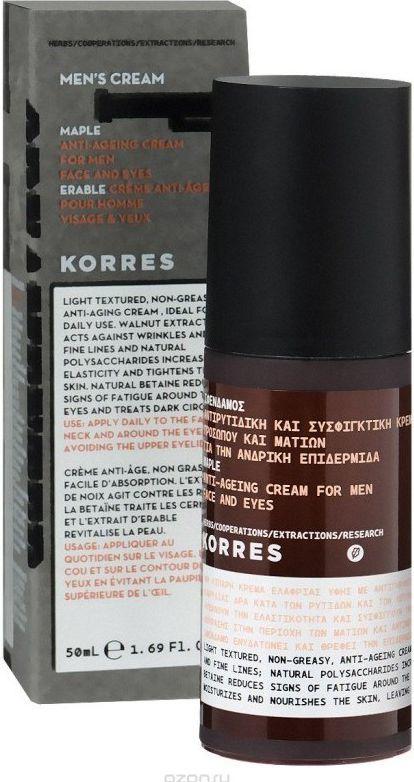 Korres Men's Cream Maple Anti-Ageing Cream krem przeciwzmarszczkowy do twarzy i pod oczy z syropem klonowym 50ml 1