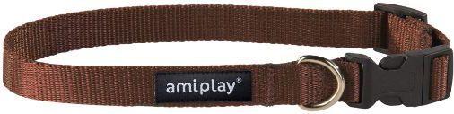 Ami Play Obroża regulowana Basic M 25-40 [b] x 1,5cm Brązowy 1
