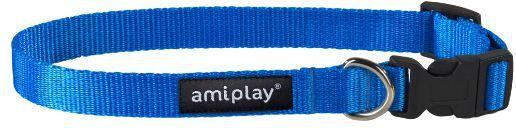 Ami Play Obroża regulowana Basic M 25-40 [b] x 1,5cm Niebieski 1