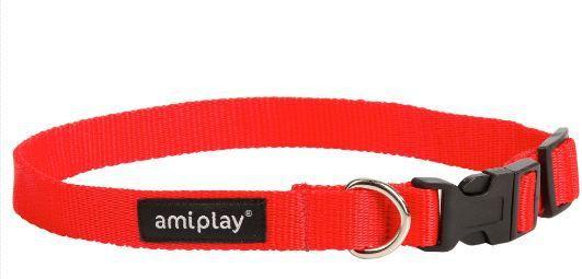 Ami Play Obroża regulowana Basic S 20-35 [b] x 1cm czerwony 1