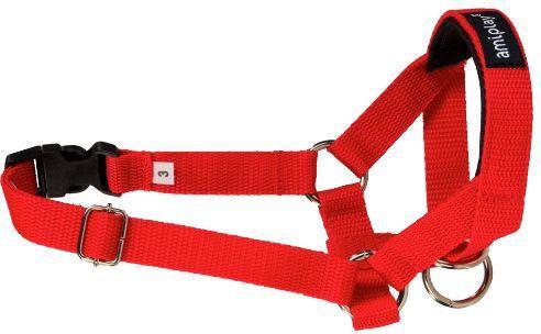 Ami Play Halter Basic L (N4) Labrador 20-37 [a] x 45-60 [b] x 2 cm czerwony 1