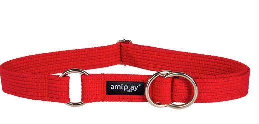 Ami Play Obroża półzaciskowa Cotton L 32-50 cm [b] x 2,5 cm Czerwony 1
