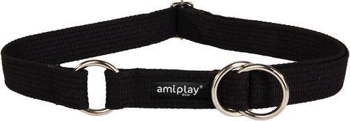 Ami Play Obroża półzaciskowa Cotton L 32-50 cm [b] x 2,5 cm Czarny 1
