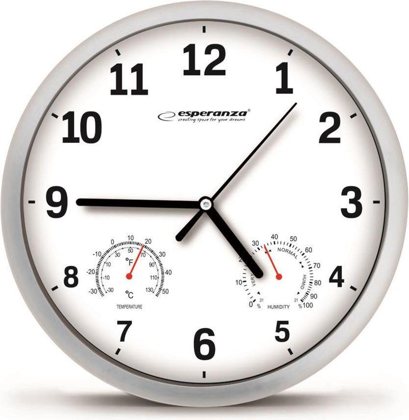 Esperanza Zegar ścienny Lyon biały (EHC016W) 1