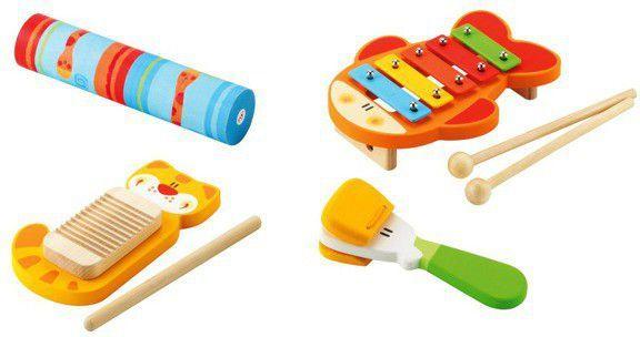 Sevi Kolorowy, drewniany zestaw rytmiczny, cztery instrumenty (82671) 1