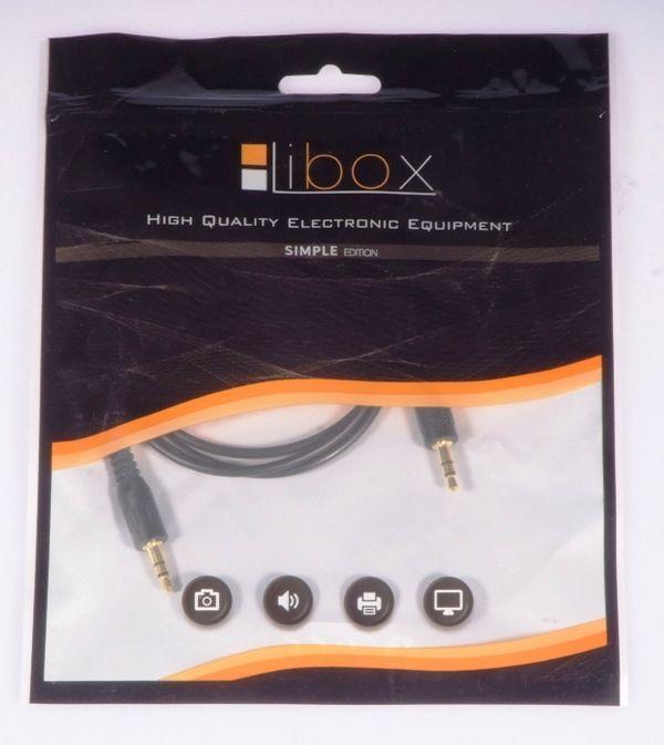 Kabel Libox Jack 3.5mm - Jack 3.5mm 1m czarny (LB0061) 1