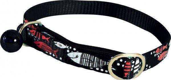 Zolux Obroża nylonowa dla kota Sardine czarny 1