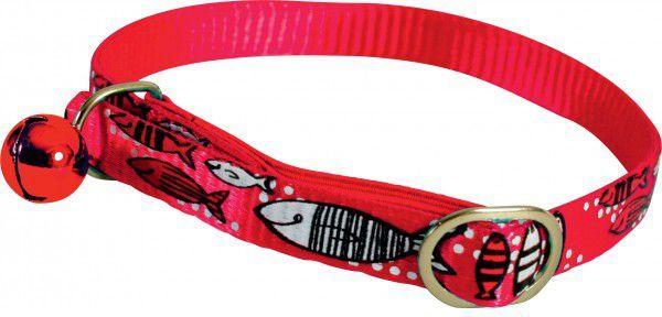 Zolux Obroża nylonowa dla kota Sardine czerwony 1