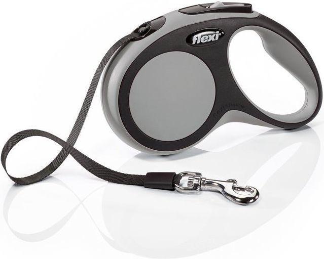 Flexi New Comfort Smycz automatyczna S taśma 5m Szara 1