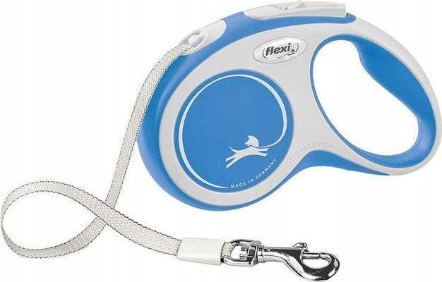 Flexi New Comfort Smycz automatyczna S taśma 5m Niebieska 1