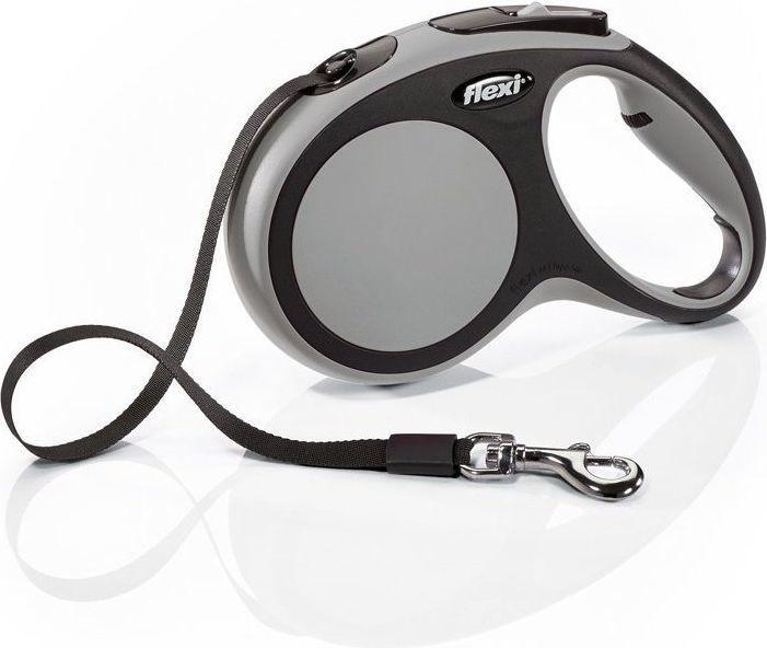 Flexi New Comfort Smycz automatyczna M taśma 5m Szara 1