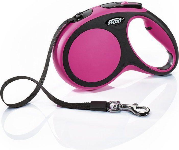 Flexi New Comfort Smycz automatyczna M taśma 5m Różowa 1