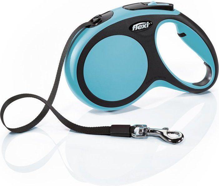 Flexi New Comfort Smycz automatyczna M taśma 5m Niebieska 1