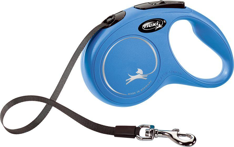 Flexi New Classic Smycz automatyczna taśma S 5m Niebieska 1