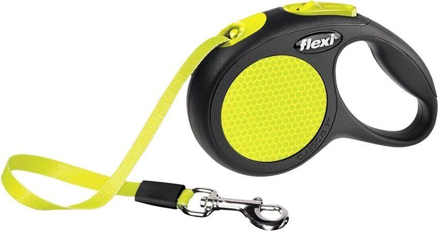 Flexi New Neon Smycz automatyczna taśma XS 3m 1