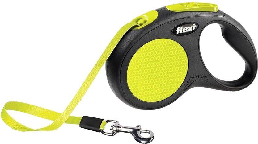 Flexi New Neon Smycz automatyczna taśma S 5m 1