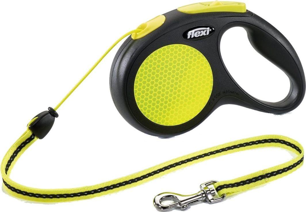 Flexi New Neon Smycz automatyczna linka M 5m 1