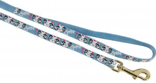 Zolux Smycz nylonowa dla kota Ladycat 1 m niebieski 1