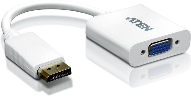 Kabel Aten DisplayPort - D-Sub (VGA) 0.1m biały (VC925-AT) 1