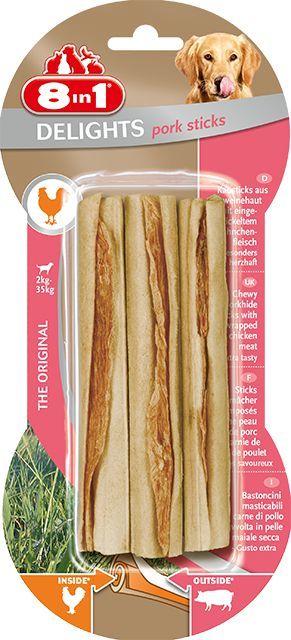 8in1 Przysmak 8in1 Pork Delights Bone Sticks - 3szt 1