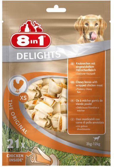 8in1 Przysmak 8in1 Delights Bones XS - Torebka 21 szt. 1