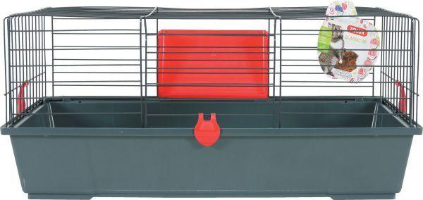 Zolux Klatka CLASSIC 80 cm kol. szary/czerwony 1