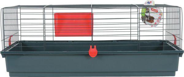 Zolux Klatka CLASSIC 100 cm kol. szary/czerwony 1