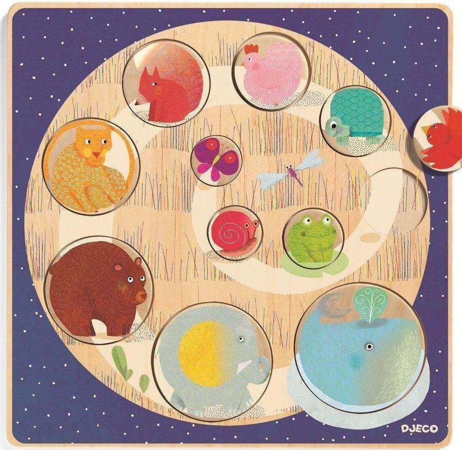 Djeco Drewniane puzzle - Ludi & Co (224358) 1